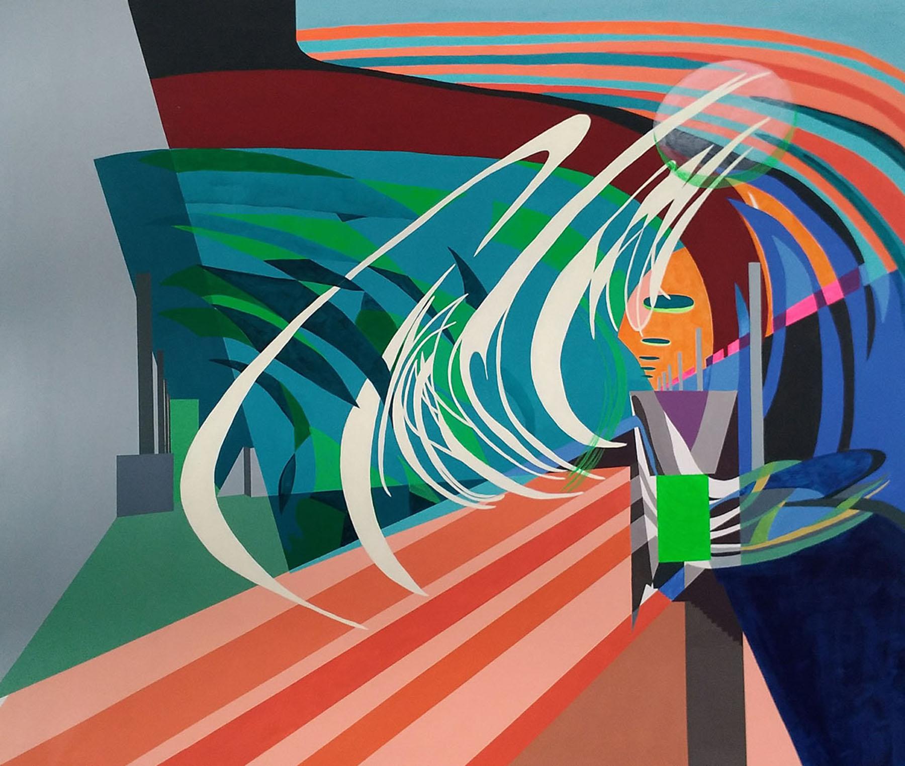 'Imagen multifocal 4' Paula Nahmod Acrylic on canvas, 90 x 110 cm, 2017