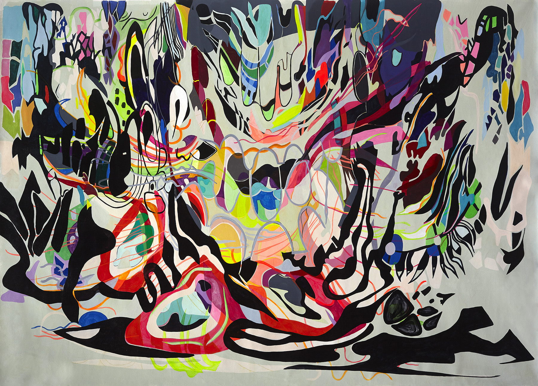 'Punto de inflexion (Point of inflection)' Paula Nahmod Acrylic and flashe vinyl on canvas, 180 x 130 cm, 2016