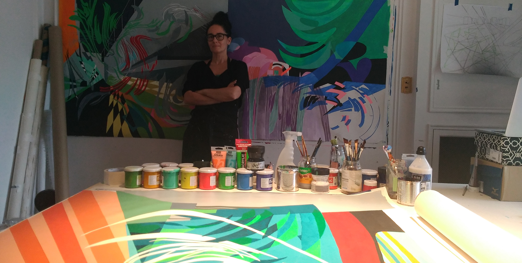 Paula Nahmod's Studio