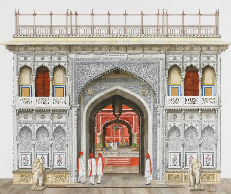 Varsha Bhatia, Rajendra Pol, Jaipur 44 x 38 cm