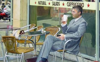 'Waiting' Jeanne Warren Acrylic on Board, 33cm x 56cm, 2012