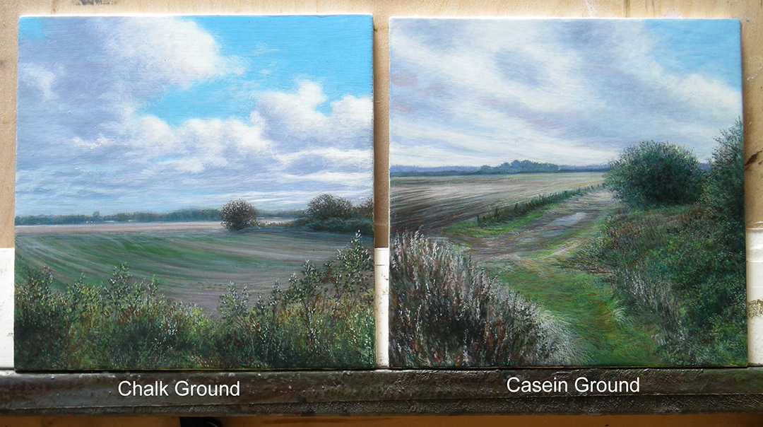 Using Sinopia Chalk Ground and Casein Gesso for Egg Tempera Painting