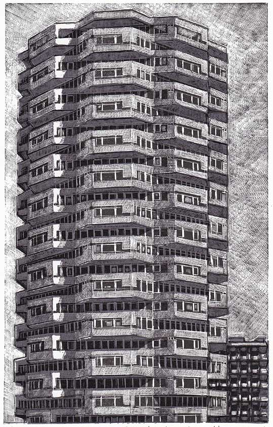 Louise Hayward, On Addicombe Road, 21 x 13.5 cm.