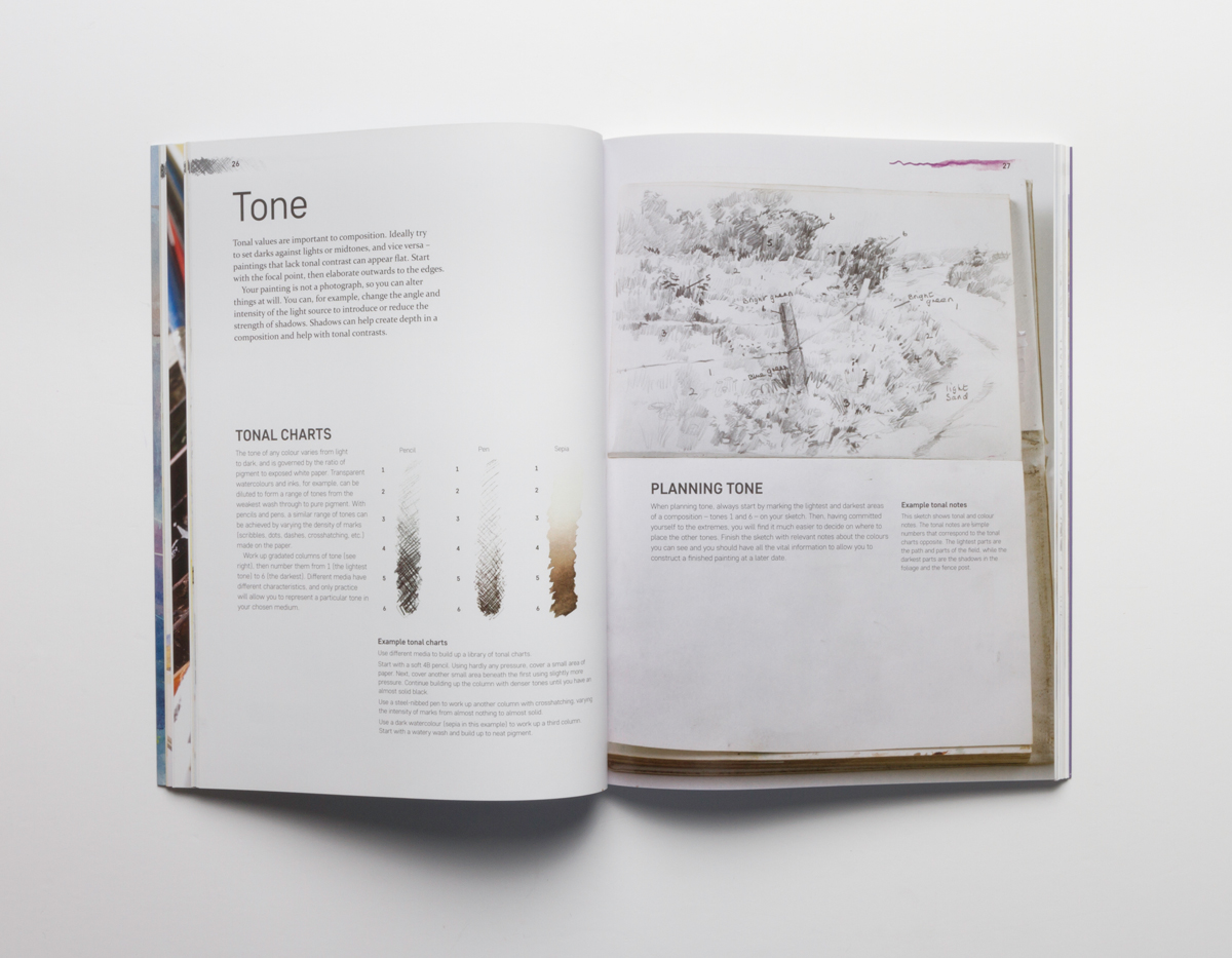 from sketch to watercolour painting a book review jackson s art  explaining the use of tone in drawings pg 26 27
