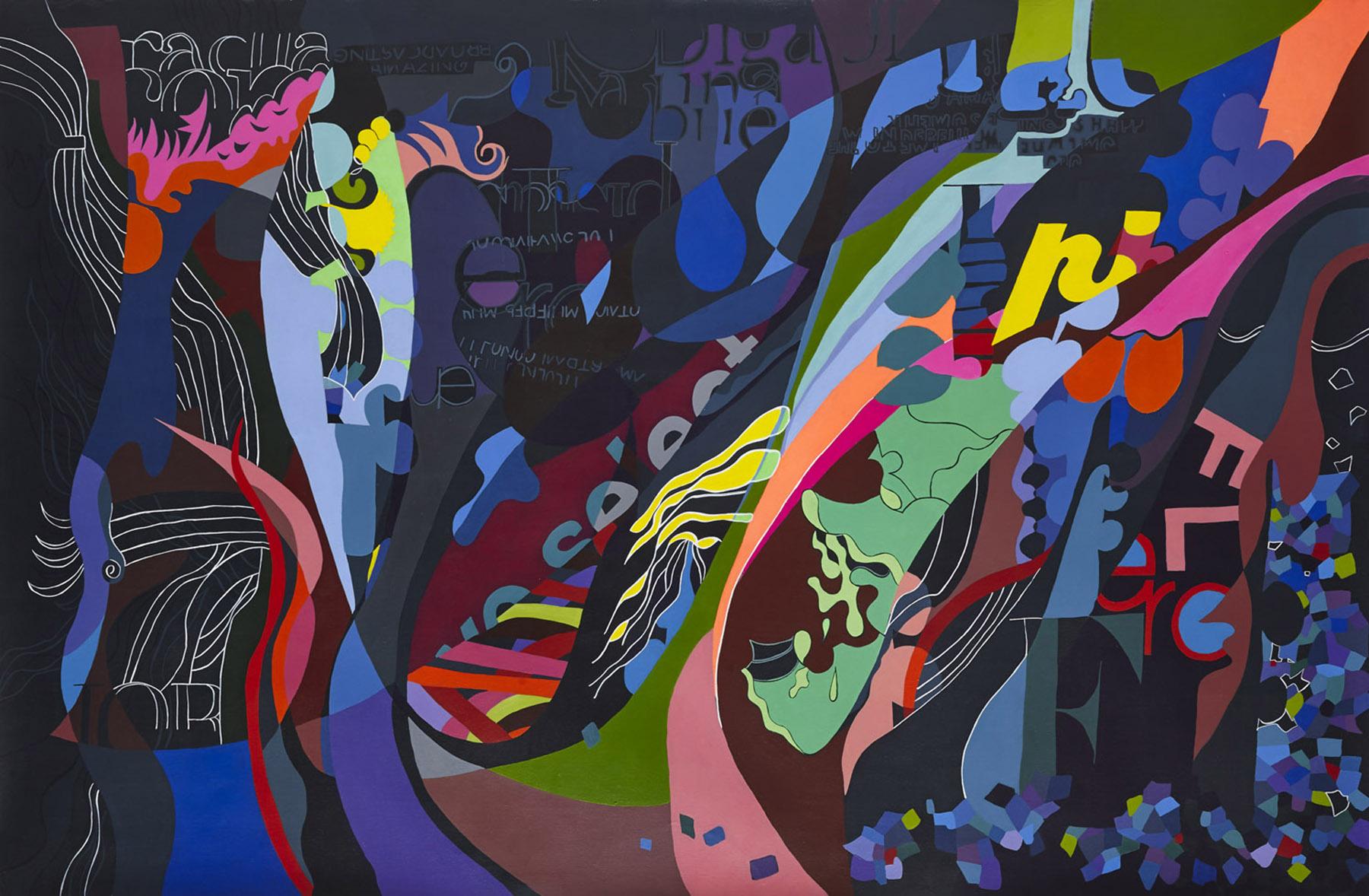'We select' Paula Nahmod Acrylic on canvas, 150 x 100 cm, 2013