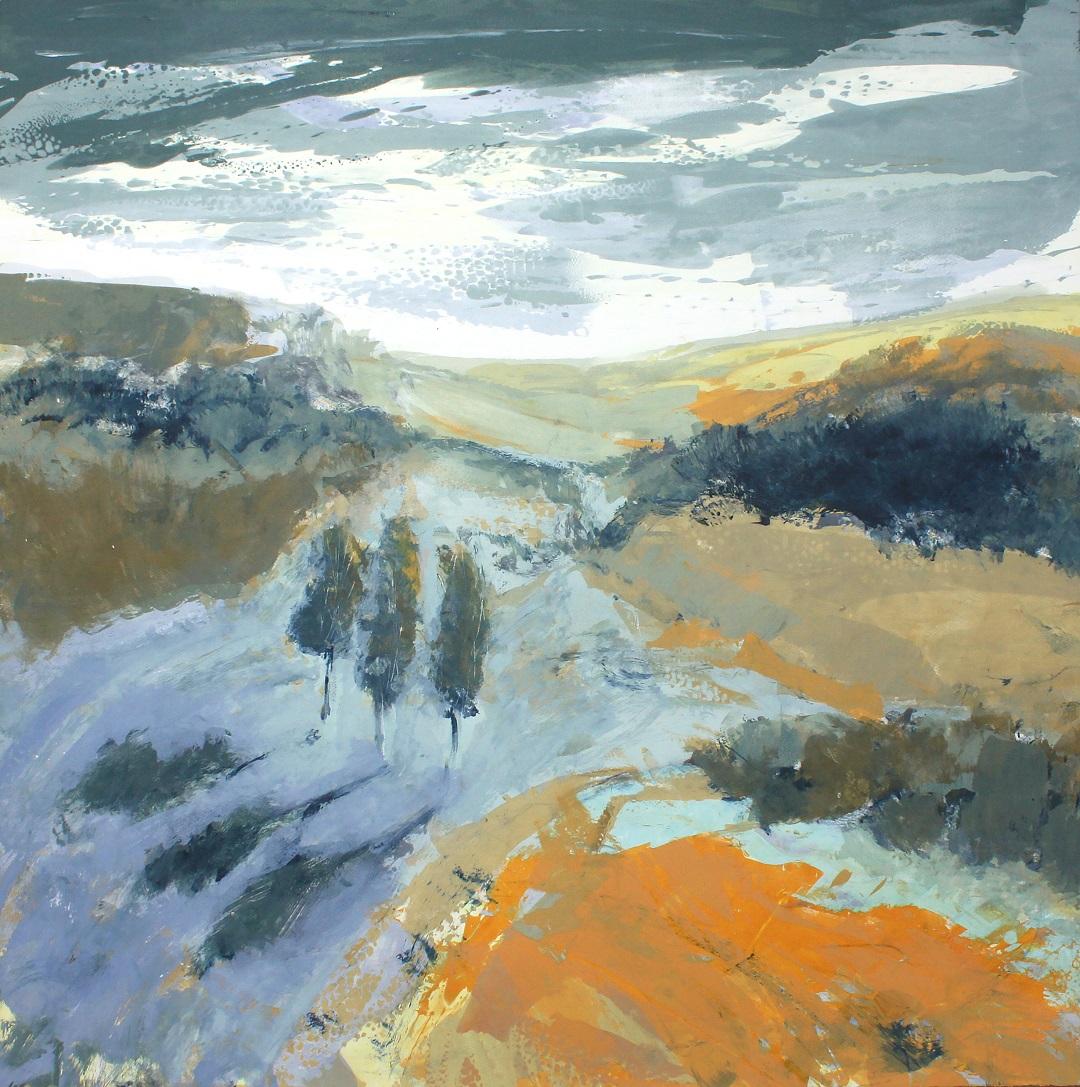 'Where The Cuckoo Calls' Gail Mason Silkscreen Monotype, 98cm x 98cm