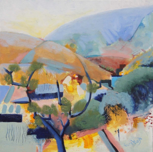 132 Laura Boyd- Abstract Devon part of the Topsham Art Group, who are showing at