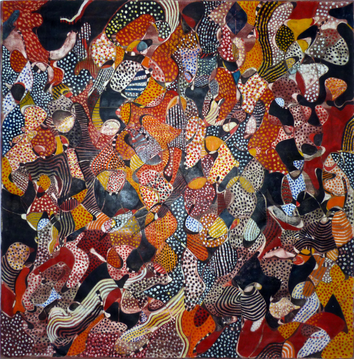 Balraj Khanna, African Queen, 1969-70 Oil on canvas 132 x 132 cm