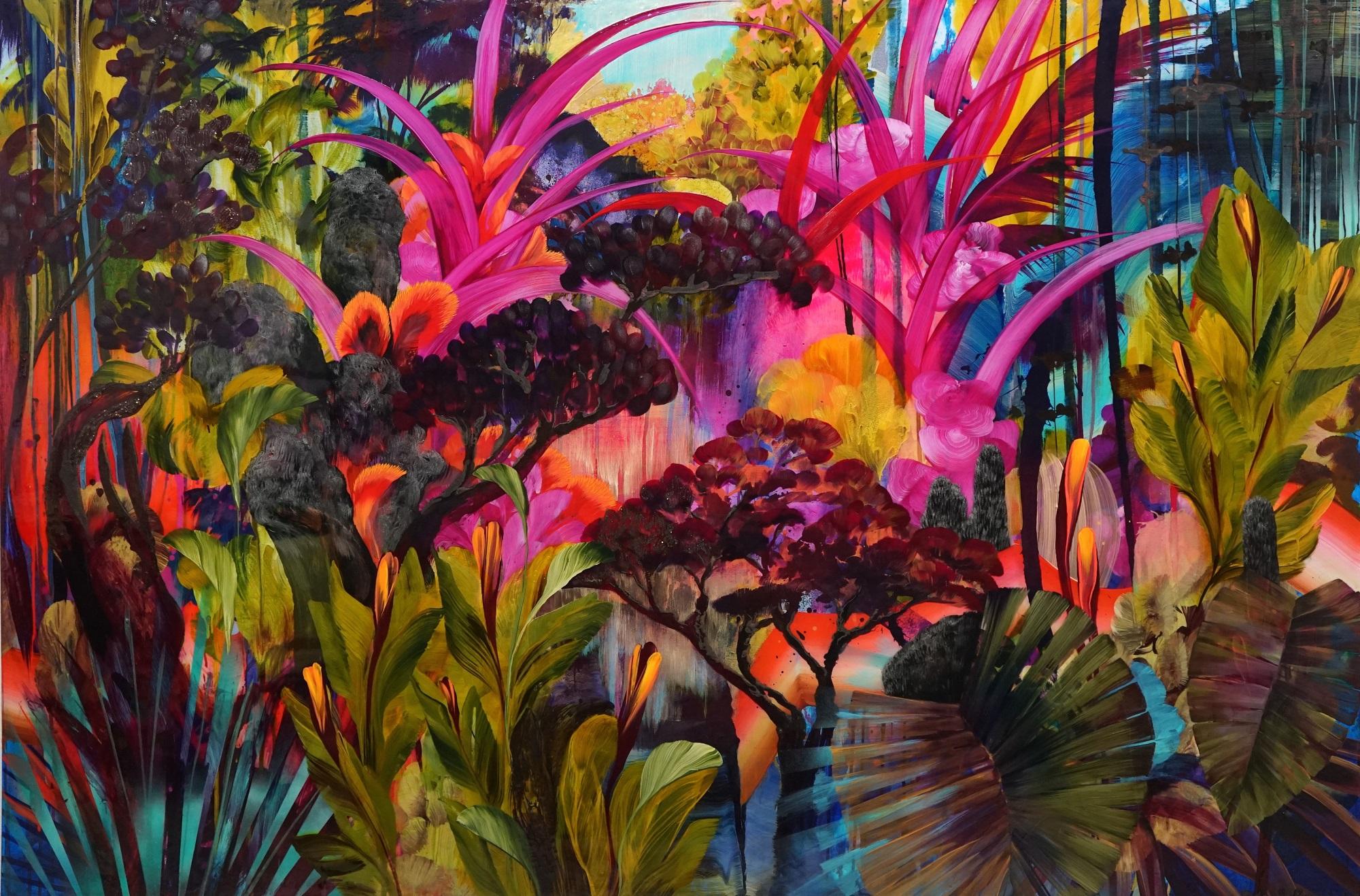 'Feuille' Orlanda Broom Mixed Media on canvas, 120cm x 180cm, 2017