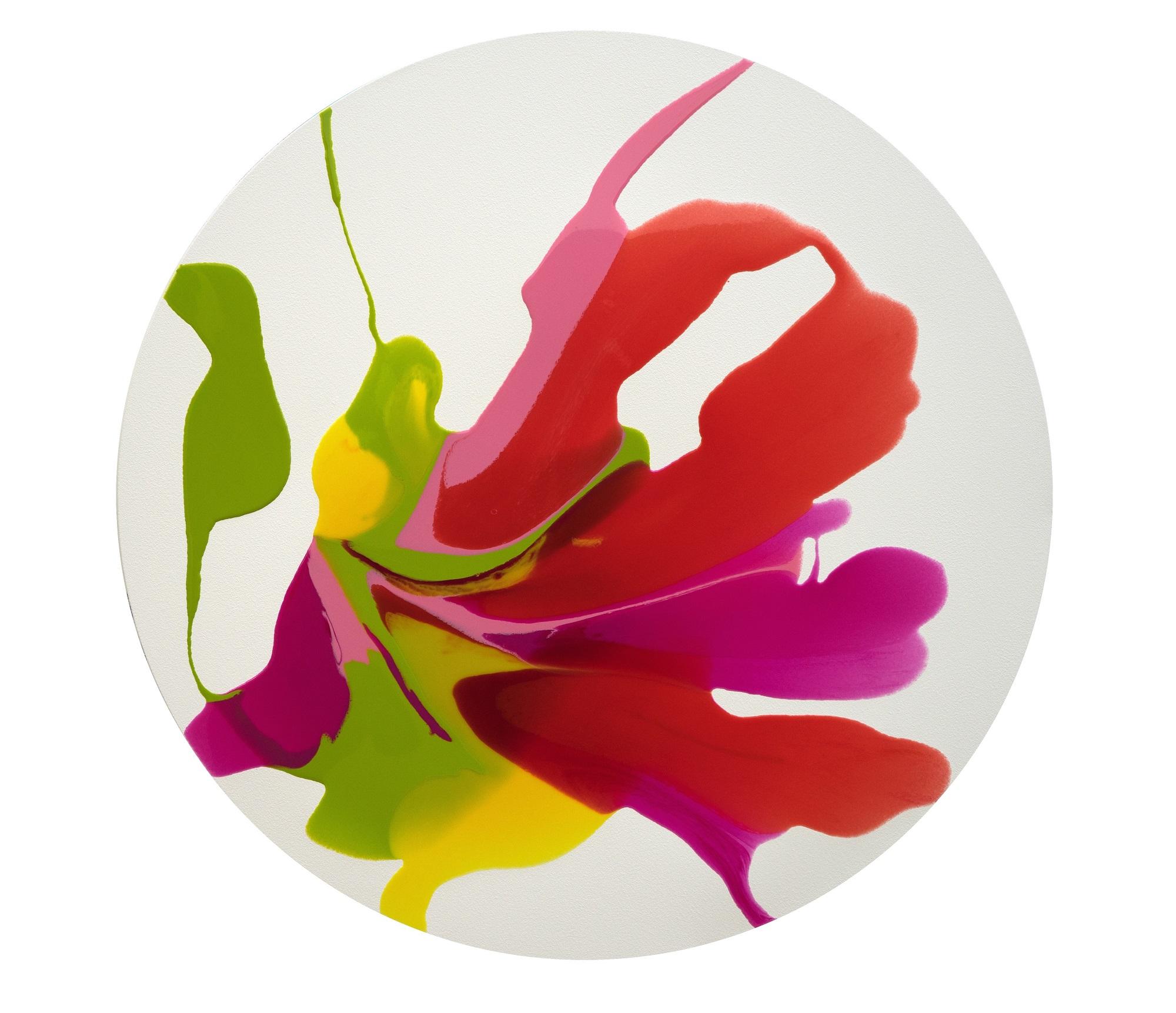 'Flounce' Orlanda Broom Resin on canvas, 100cm diameter, 2017