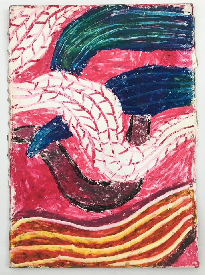 Francisco Mendes Moreira Untitled 1 oil pastel on paper 25 x 32 cm
