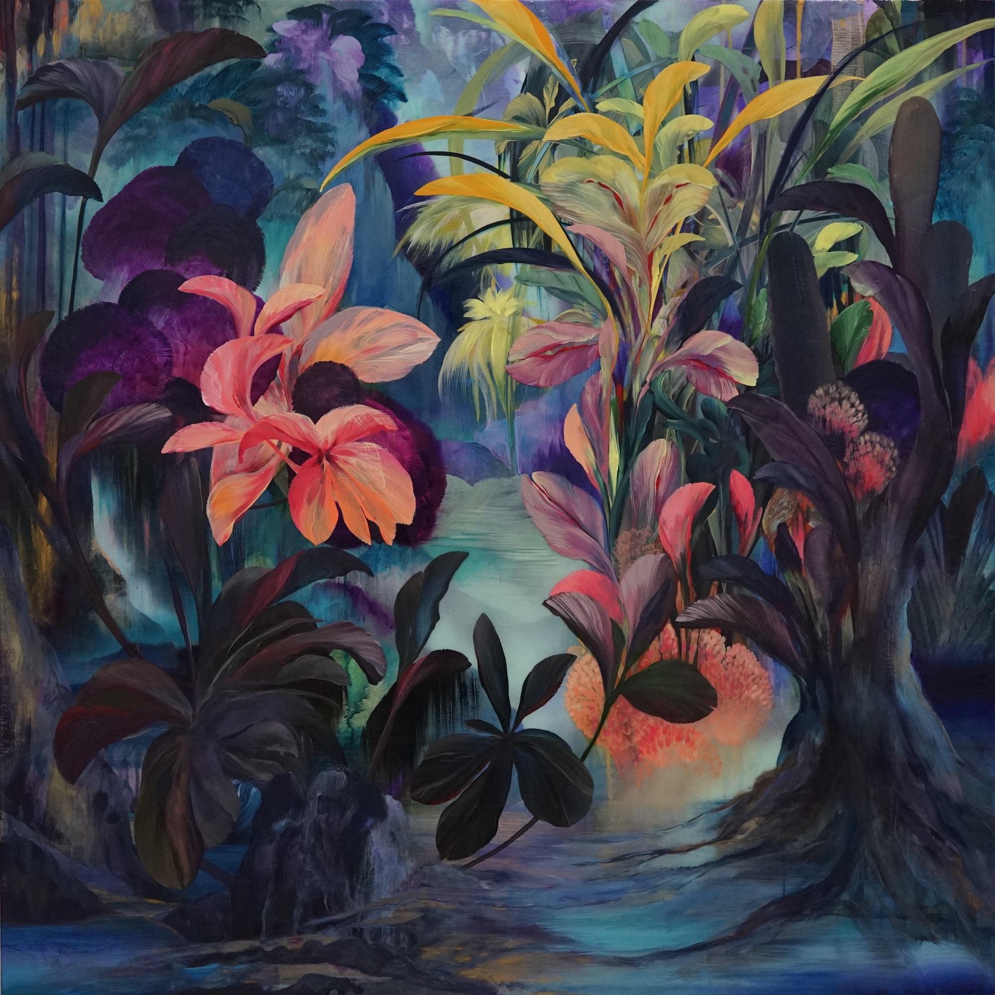 'Gate Keepers' Orlanda Broom Oil on canvas, 100cm x 100cm, 2017