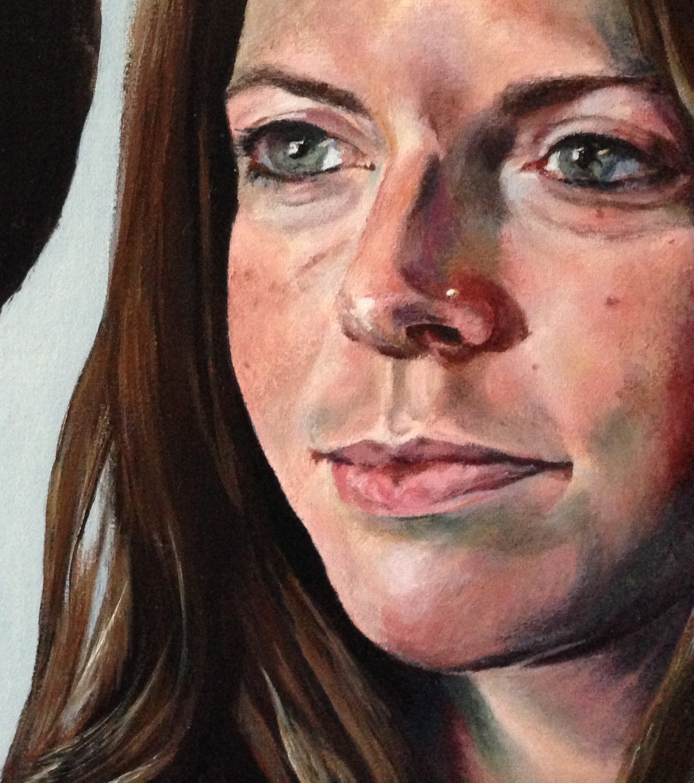 Commission: 'Cornerstones', detail of Amy, Alexandra Gould