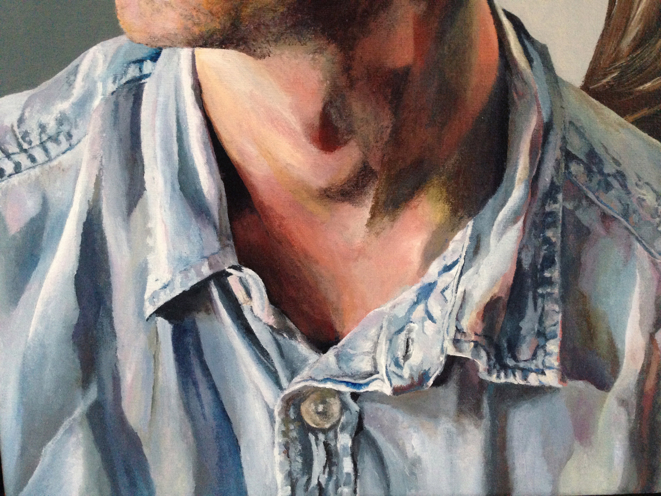 Commission:'Cornerstones', detail shirt, Alexandra Gould