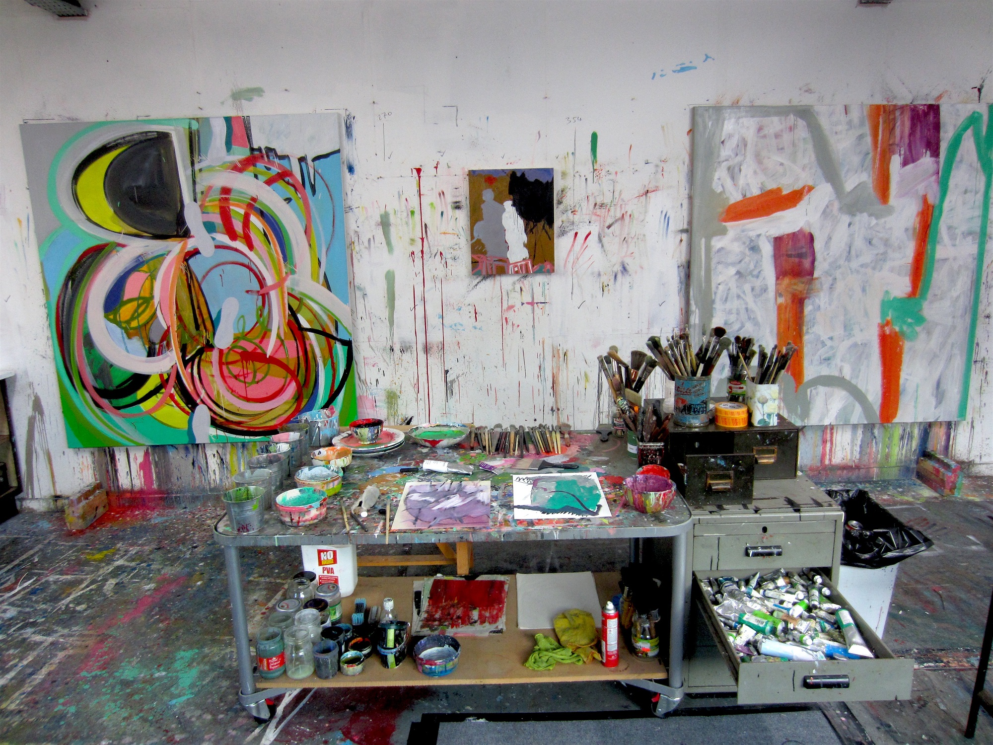Works in progress at Karl Bielik's Studio