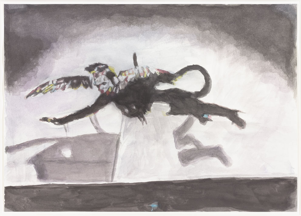 'Nikko' Luc Tuymans Watercolour on Paper, 29.4 cm x 41.7 cm, 2014 Private Collection, courtesy of Studio Luc Tuymans (Exhibited in DE. FI. CIEN. CY at Drawing Room, 2015)