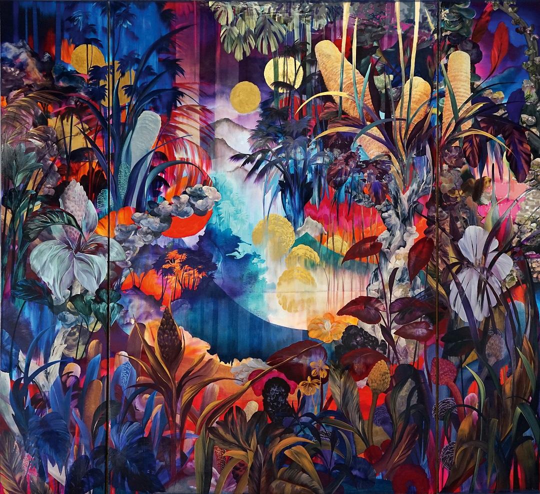 'MannaHatta' Orlanda Broom Acrylic and resin on canvas, 391cm x 421cm, 2016