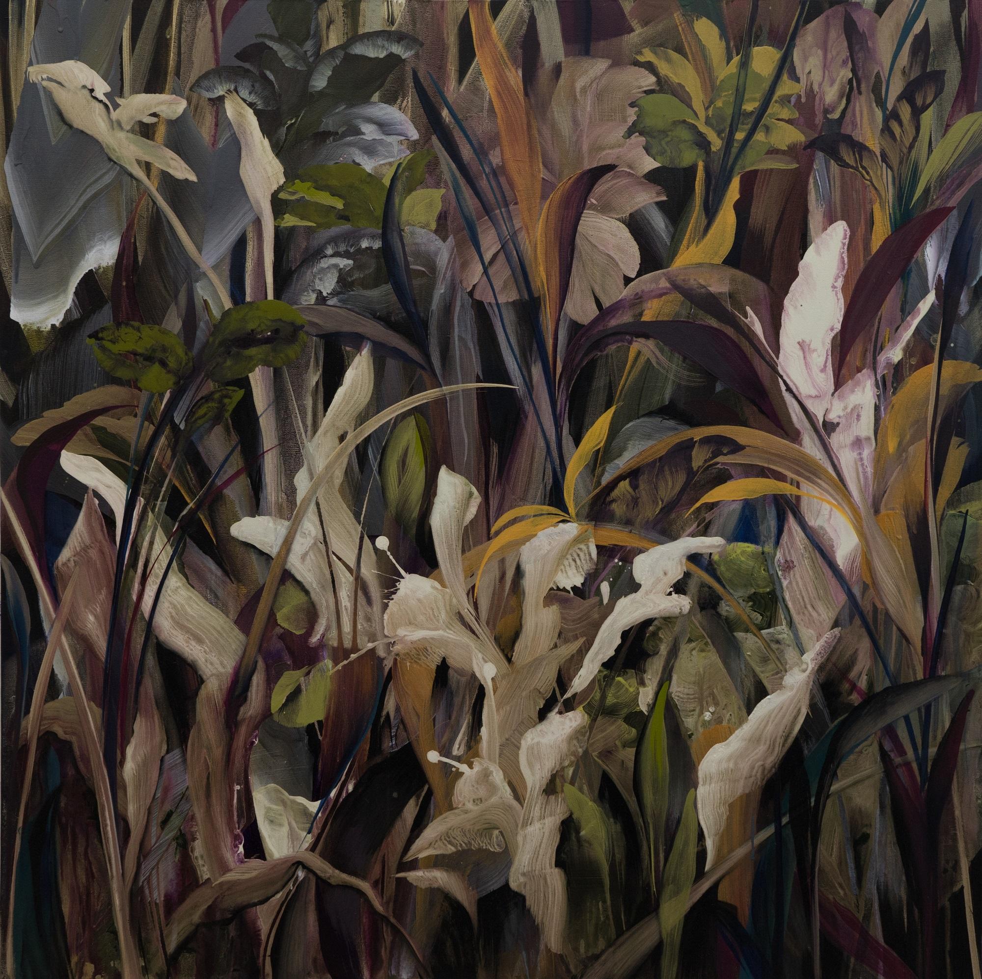 'Passing' Orlanda Broom Acrylic on canvas, 100cm x 100cm , 2017