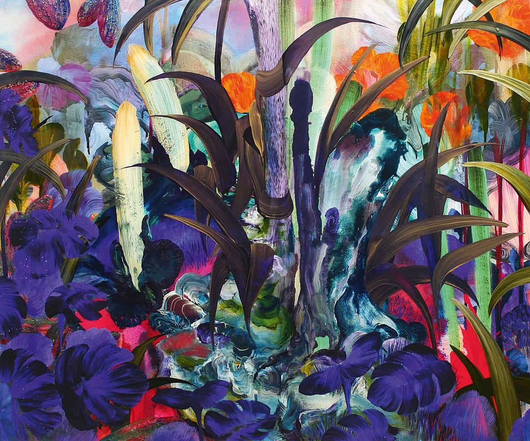 'Python Grass' Orlanda Broom Acrylic and Resin on canvas, 100cm x 120cm, 2016