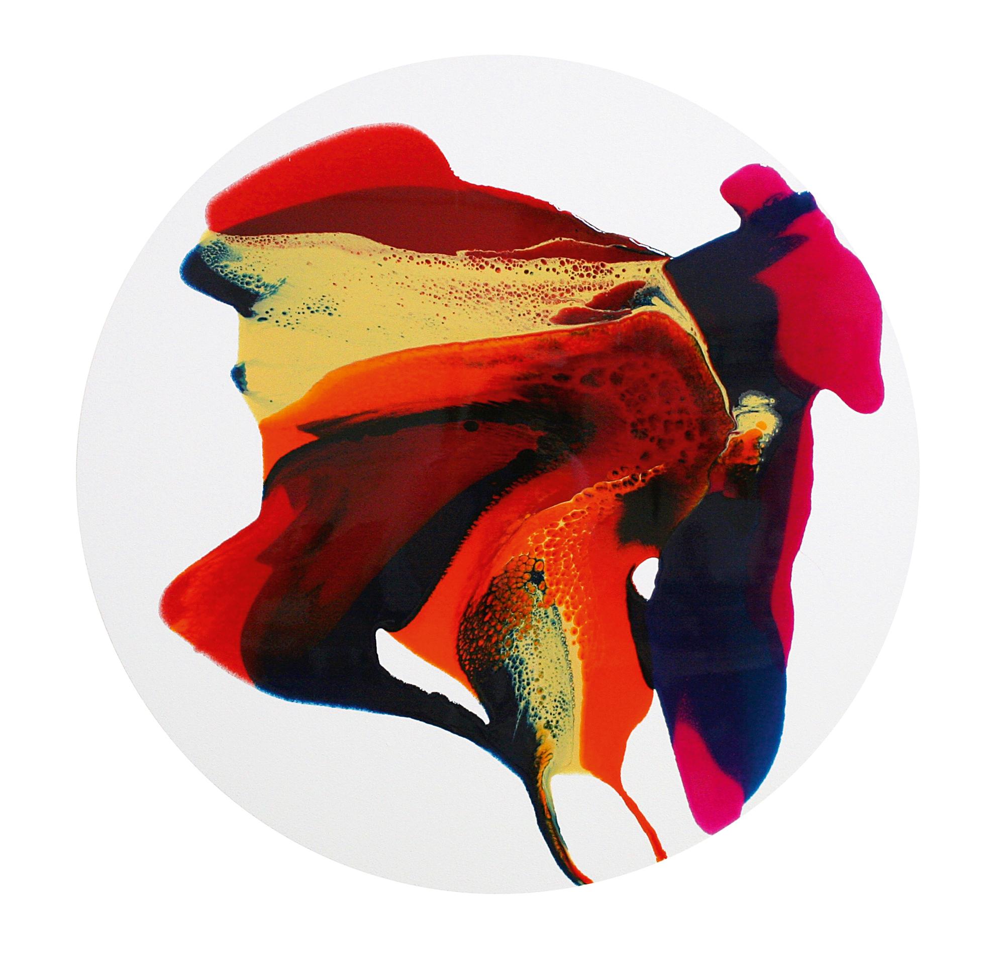 'Ray' Orlanda Broom Resin on canvas, 90cm x 90cm, 2016