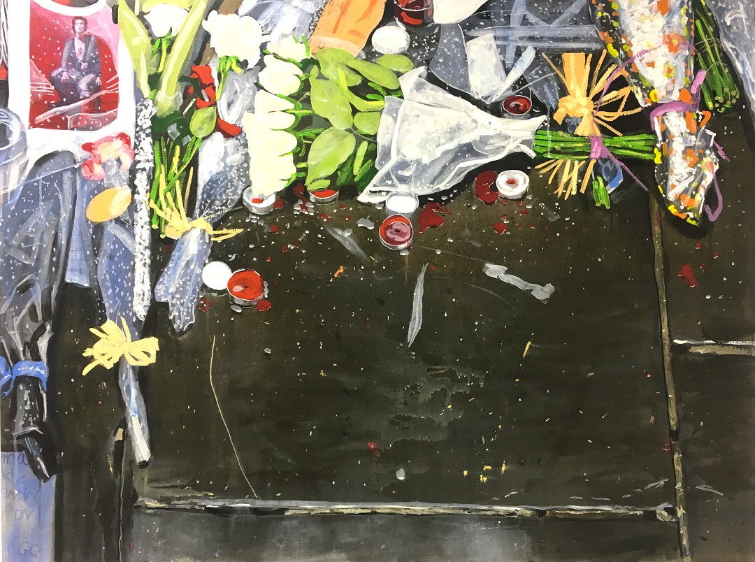 'Untitled (Flowers Painting DB)' Narbi Price Acrylic on Canvas, 91cm x 122cm