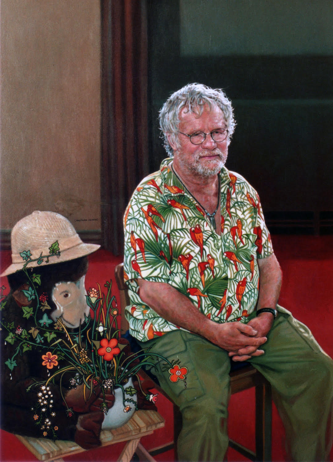 "'Bill Oddie' Mark Roscoe Oil on canvas, 30"" x 40"""