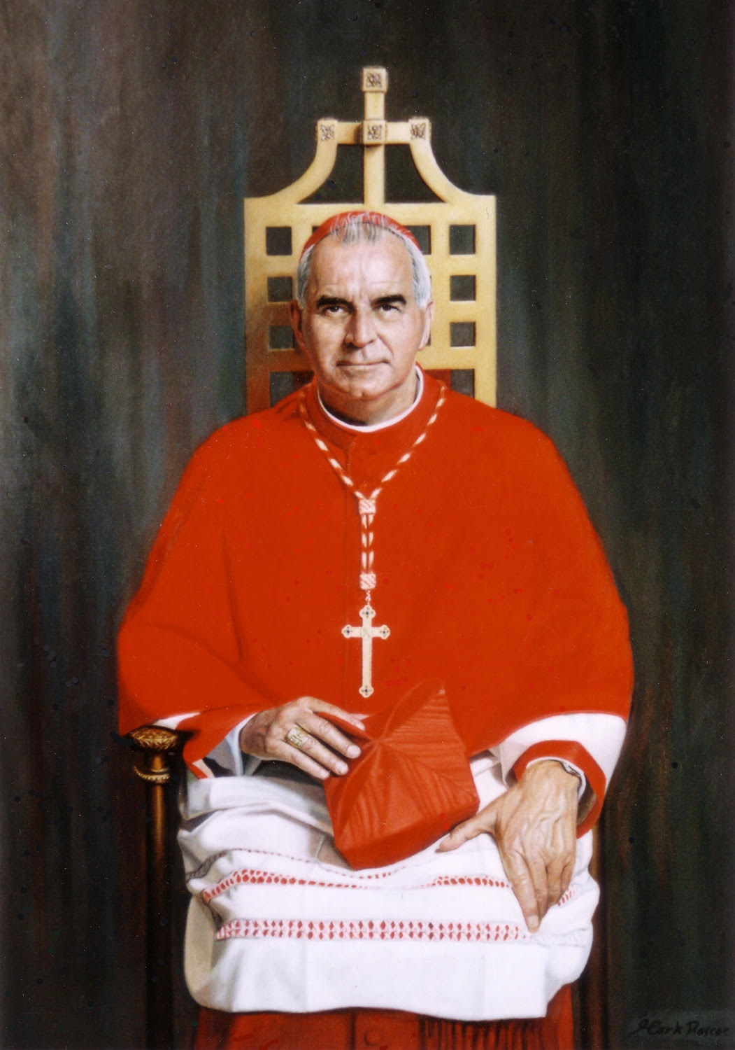 'Cardinal Keith Patrick O'Brien' Mark Roscoe Oil on linen, 34 x 48in