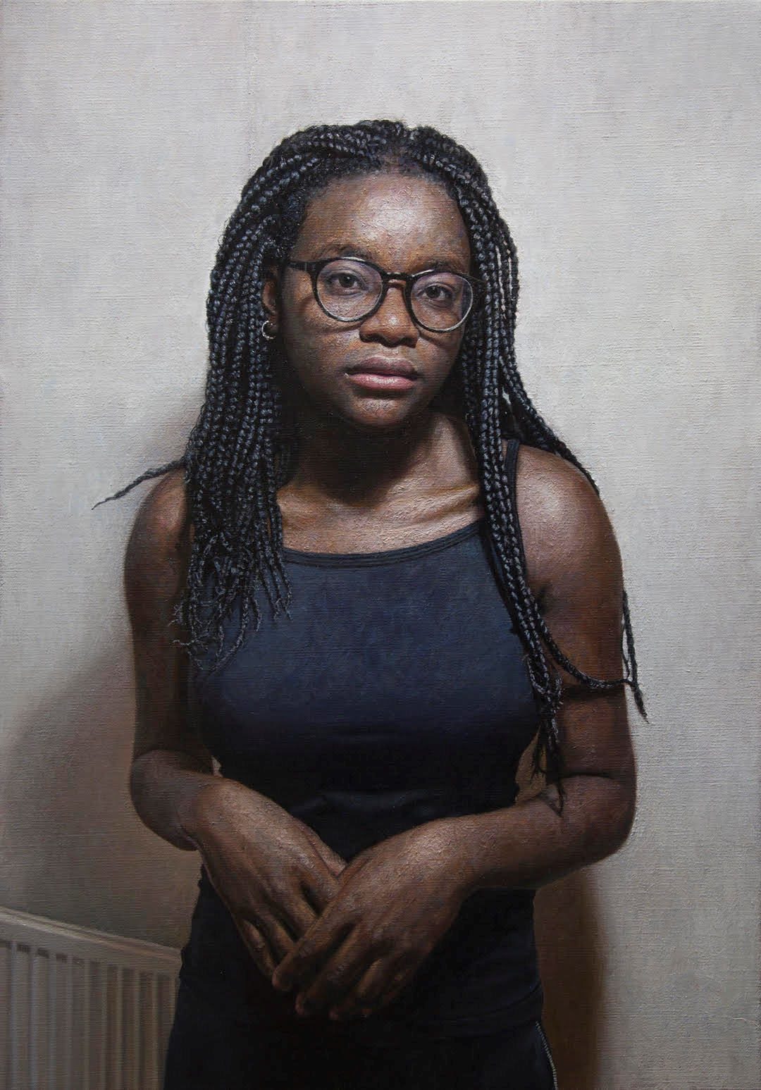 "'Eniola Sokalu' Mark Roscoe Oil on Linen, 26"" x 36"""