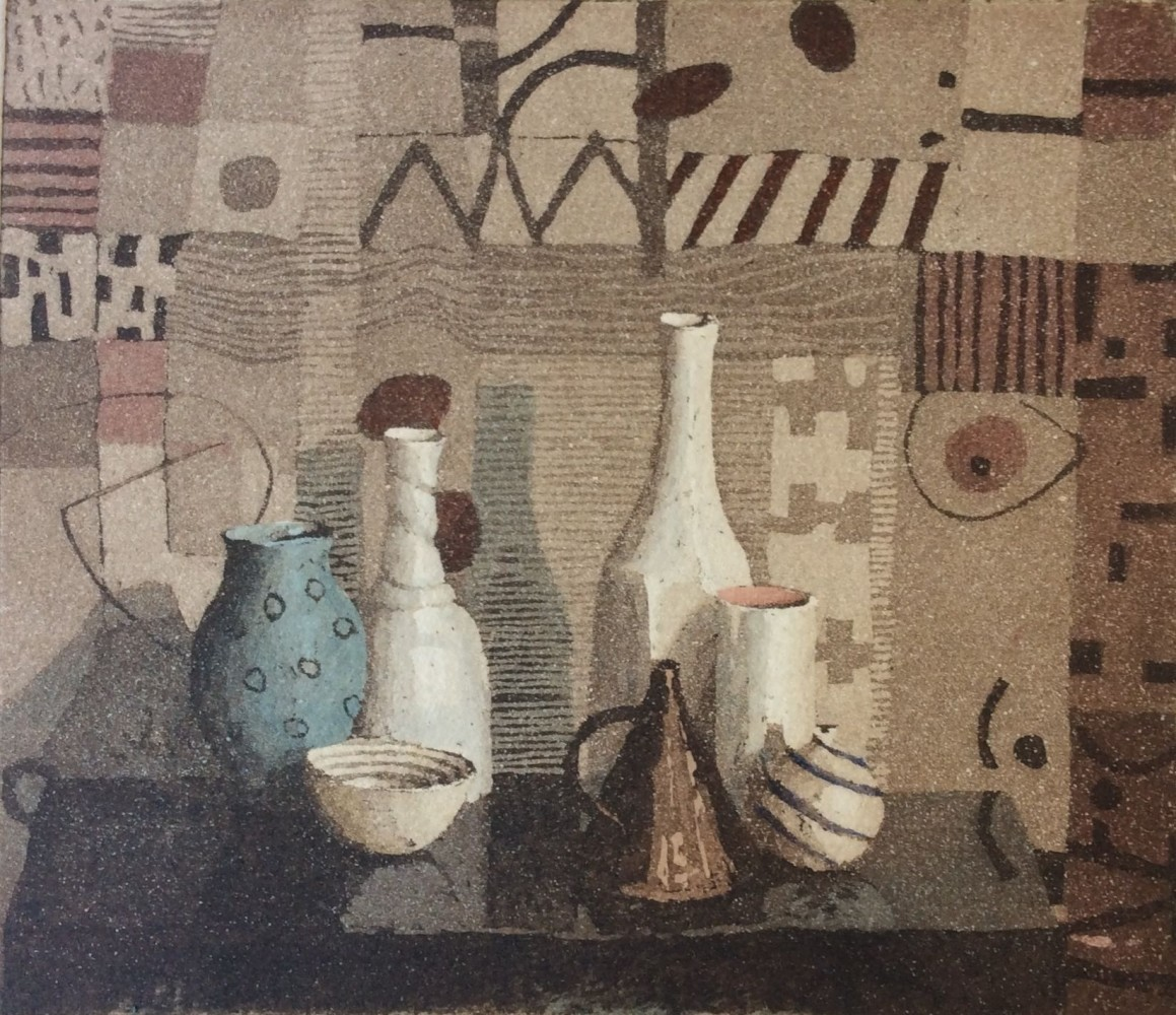 Annie Williams RWS RE Con Calore aquatint & wash 34 x 34cm