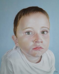 Artist Description: This is my son's portrait. He is 8 years old. Medium: Pastel pencils and pastels on pastelmat