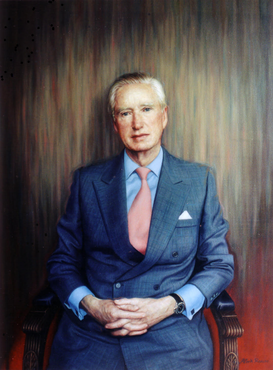 "'John R. Asprey' Mark Roscoe Oil on canvas, 30"" x 40"""