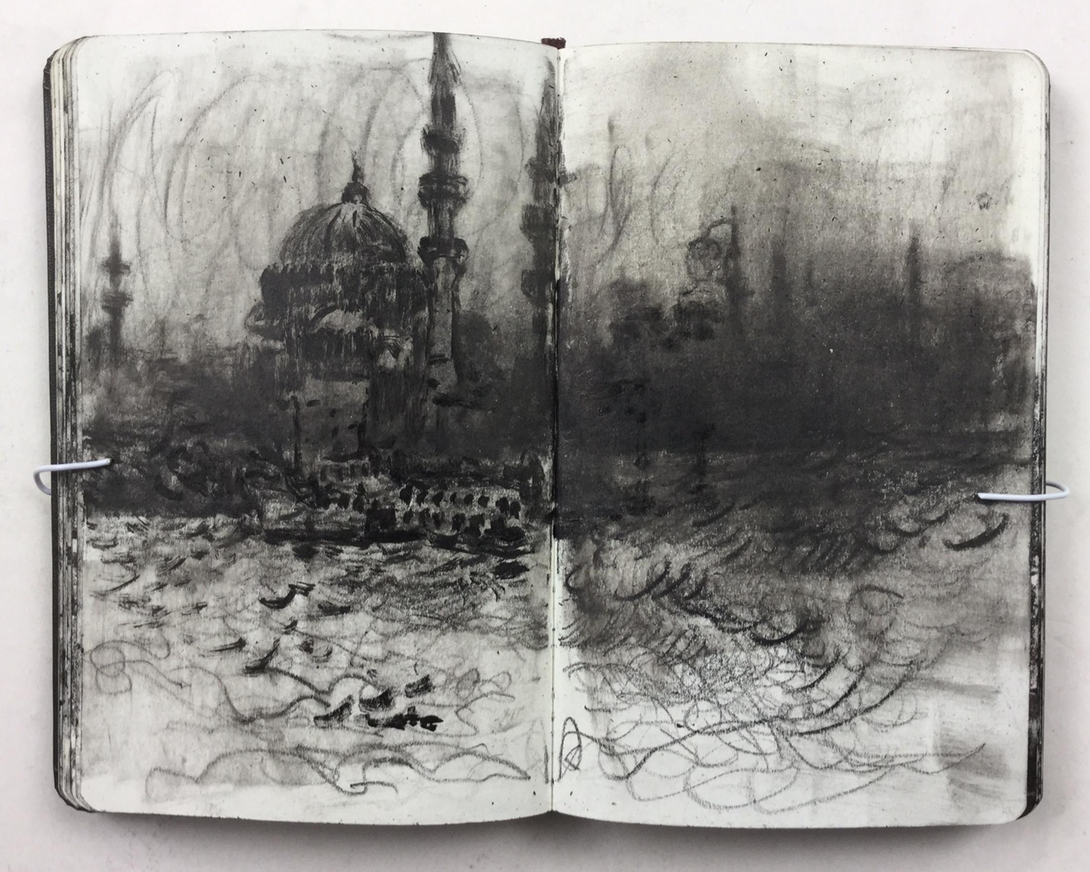 'Sketchbook, Istanbul' Christopher Green Ink, 14x18cm, 2017
