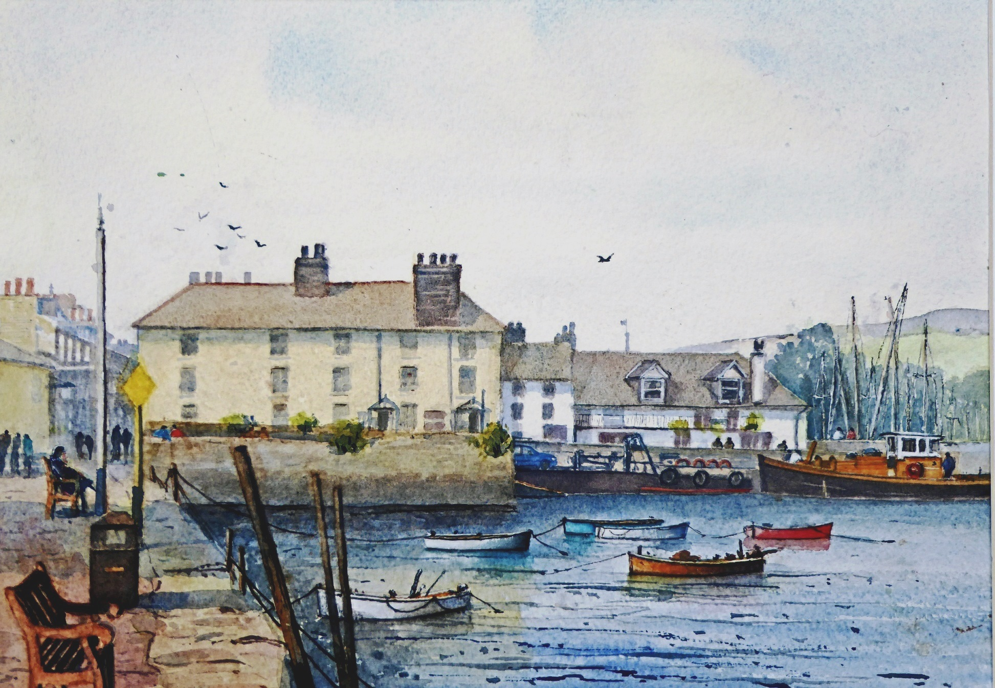 George Loades, Bayards Cove Dartmouth, whose work is being shown at the RBSA gallery.
