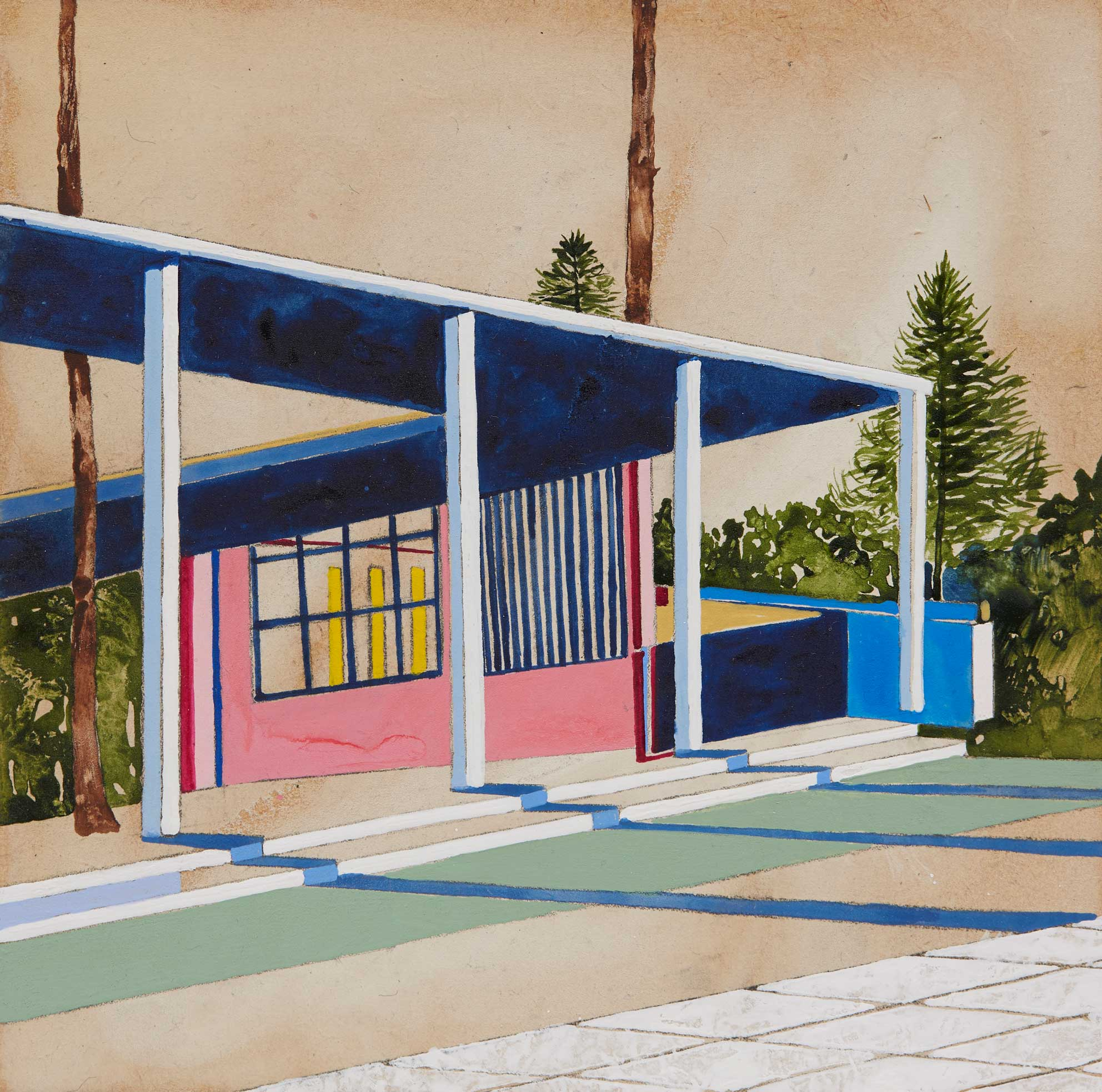 Afternoon Shadows, Charlotte Keates, Acrylic on panel, 34 x 34 cm