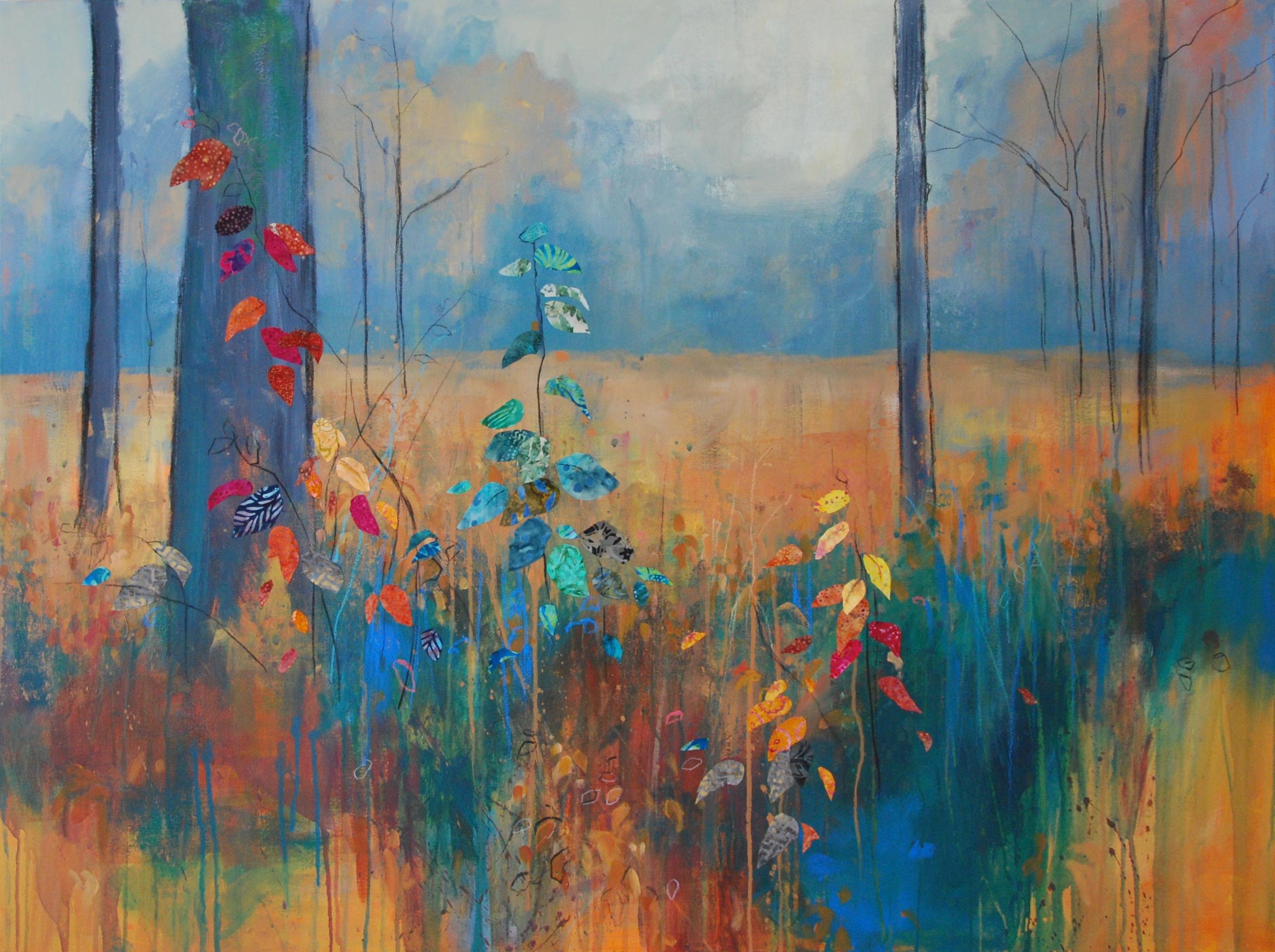 'Autumn Brights' Anna Perlin Mixed media, 91cmx122cm, 2016