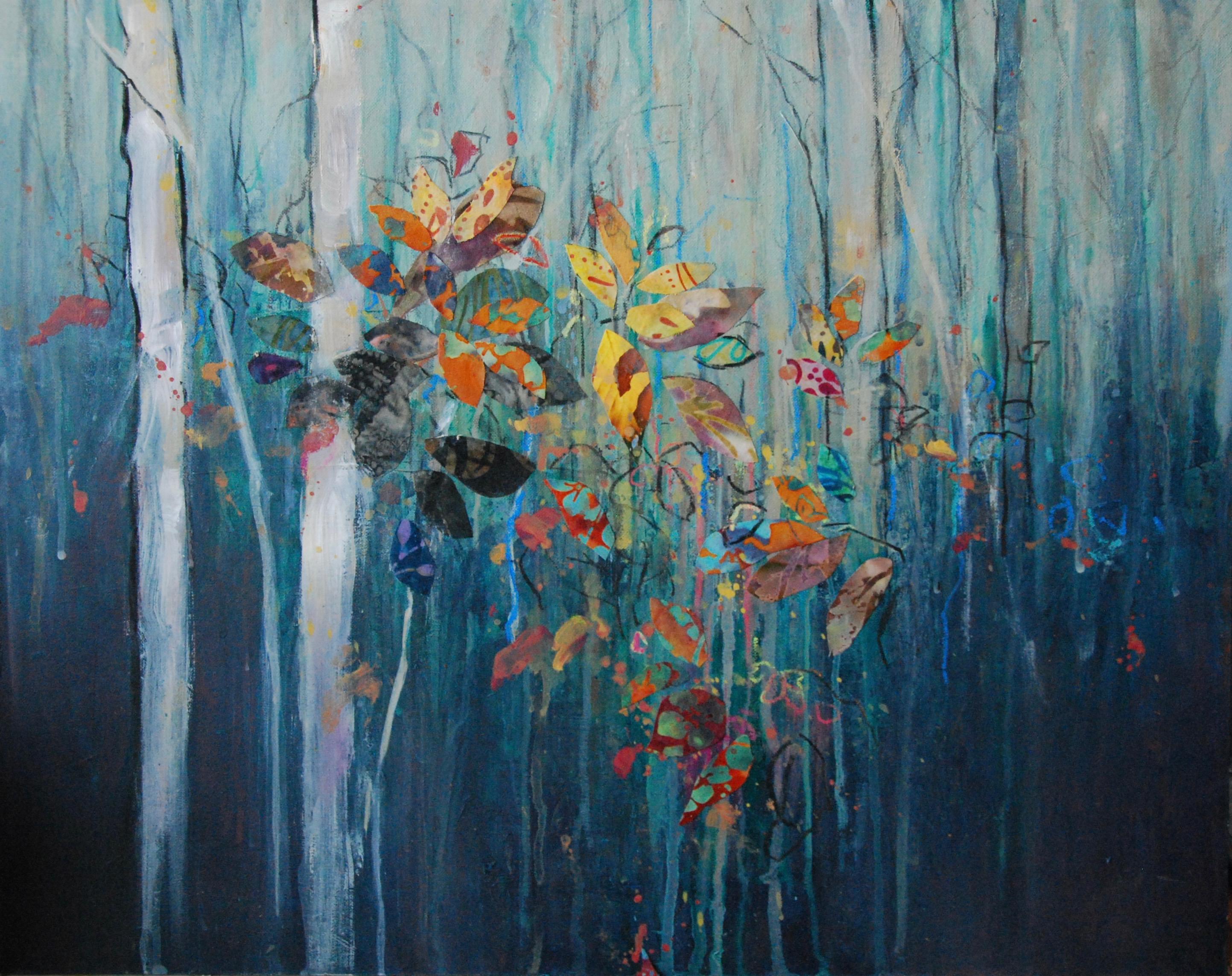 'Autumn Leaves' Anna Perlin Mixed media, 40cm x 50cm, 2016