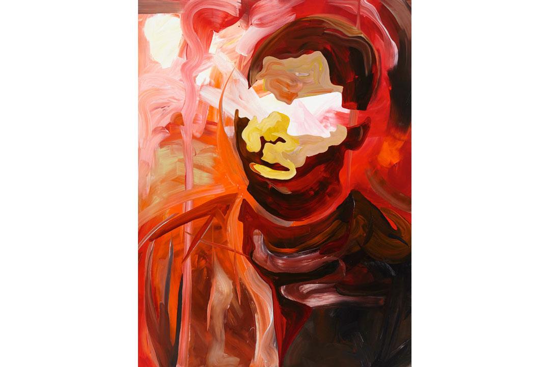 Clare Woods, Creeping Eruptions, 200 cm x 150 cm, Oil on Aluminium, 2017