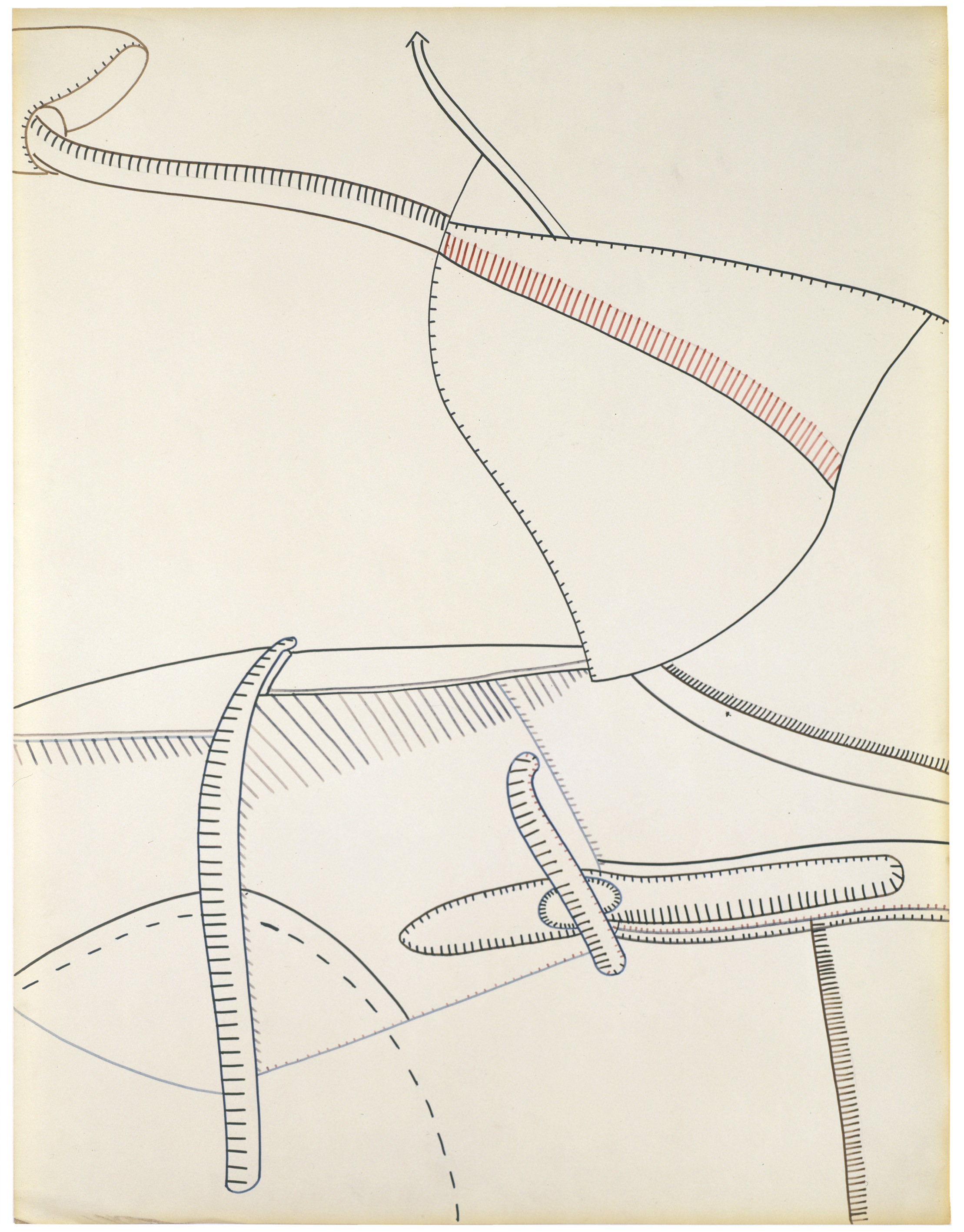 Eva Hesse No title, 1965 Ink on paper 64.8 x 49.8 cm
