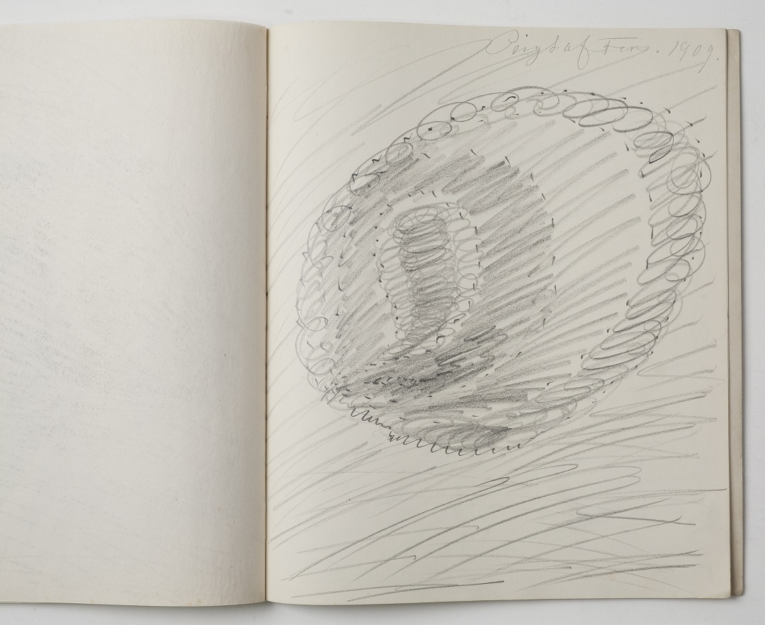 'Sketchbook' Hilma af Klint and the group 'The Five' Pencil on paper, 25.8 x 30.8 cm, 1906-09