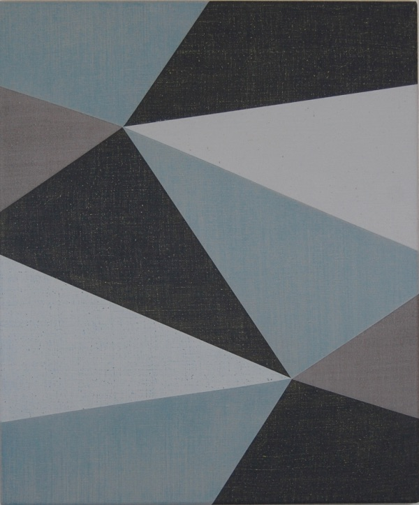 Katrina Blannin, Double Hexad Blue, 2011, Acrylic on linen, 60 x 50 cm