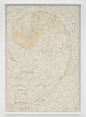 Minjung Kim, Nautilus 2010 Mixed media on mulberry Hanji paper 82 11:16 x 57 1:2 in. (210 x 146 cm) Photo- White Cube (George Darrell)