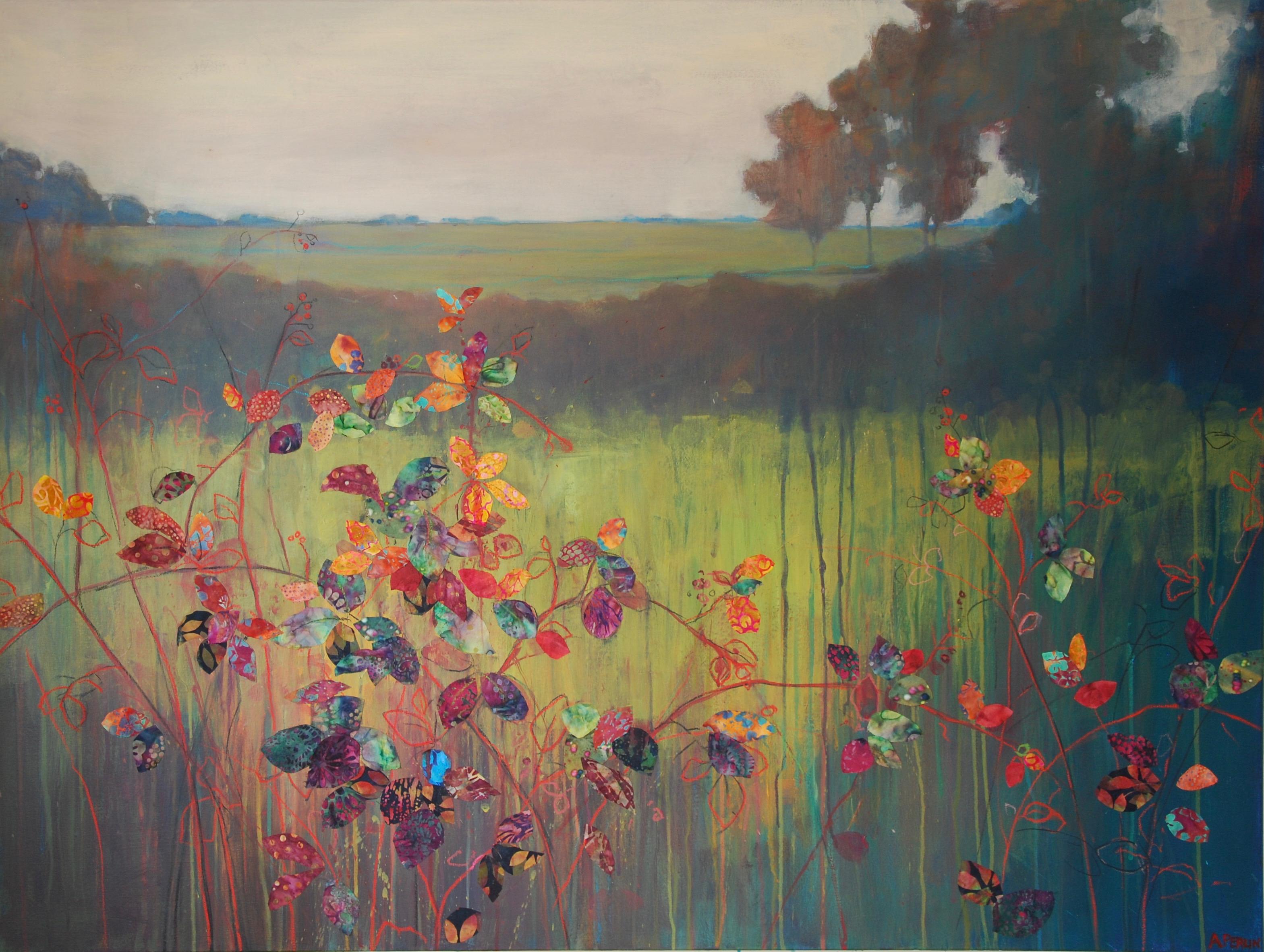 'Tangled Brambles' Anna Perlin Mixed media, 91cmx122cm, 2017