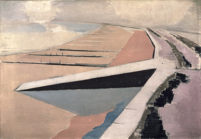 The Shore, 1923 (oil on canvas), Nash, Paul (1889-1946) : Leeds Museums and Galleries (Leeds Art Gallery) U.K. : Bridgeman Images