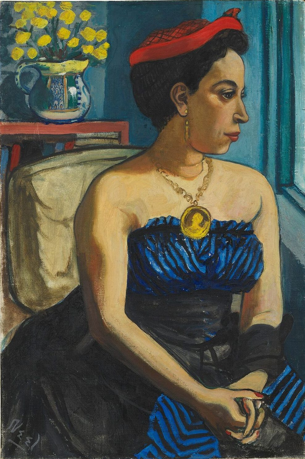 'Alice Childress' Alice Neel Oil on canvas, 75.9 x 50.8 cm, 1950 (Exhibited at Alice Neel 'Uptown', Victoria Miro Gallery, London - https://www.victoria-miro.com/exhibitions/506/)