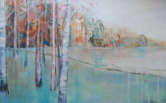 'Quiet Autumn Morning' Anna Perlin Mixed media, 40cmx100cm, 2016