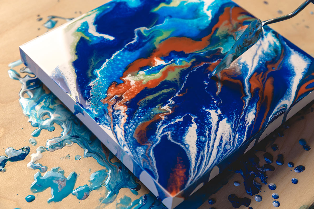 Acrylic Pour Painting with Schmincke Pouring Medium and ...