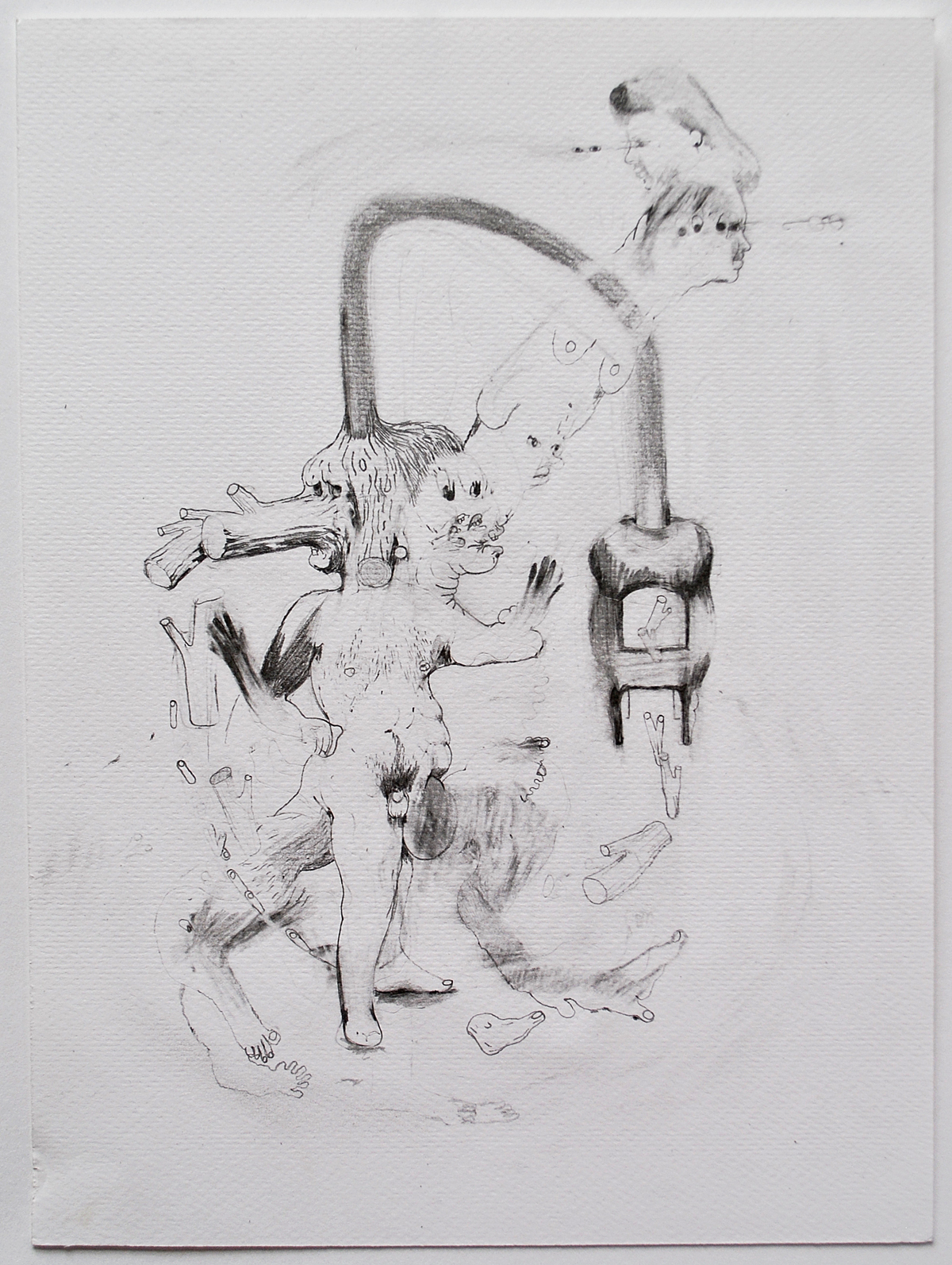 'Whirling Logs' Kate Lyddon Pencil on paper, 24cm x 17.8 cm, 2015