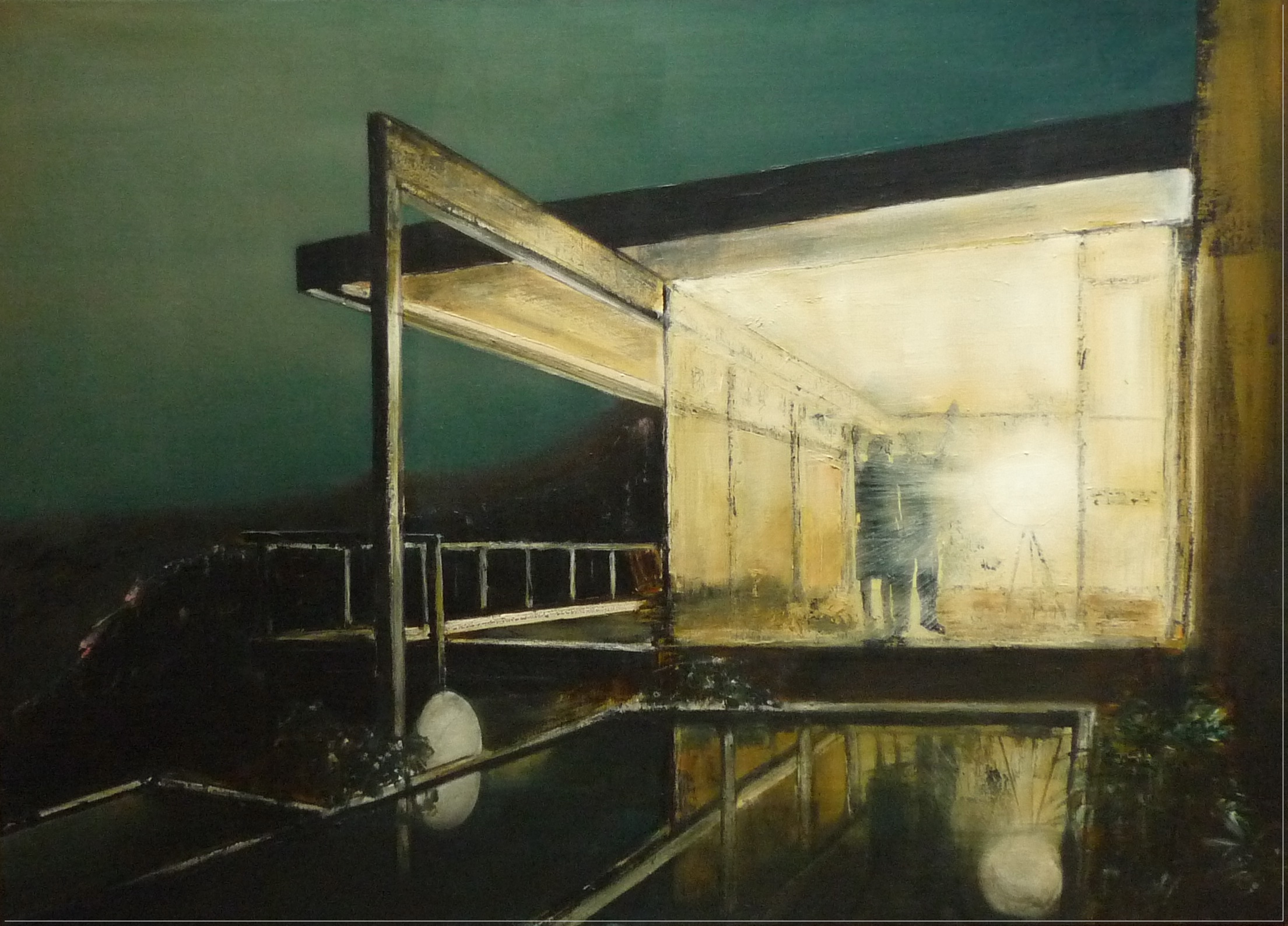 'Hello Goodbye (8)' Jarik Jongman Oil on Canvas, 100cm x 140cm, 2015
