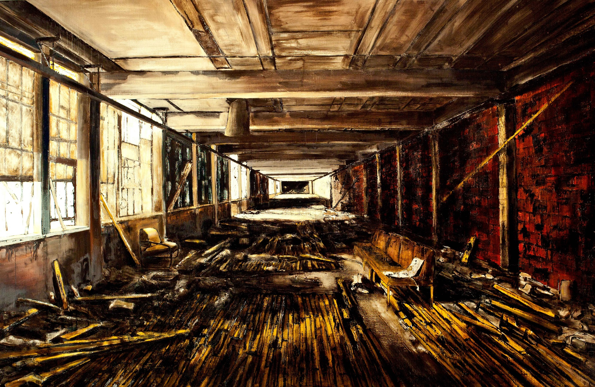 'Interior (5)' Jarik Jongman Oil on Canvas, 140cm x 220cm, 2013