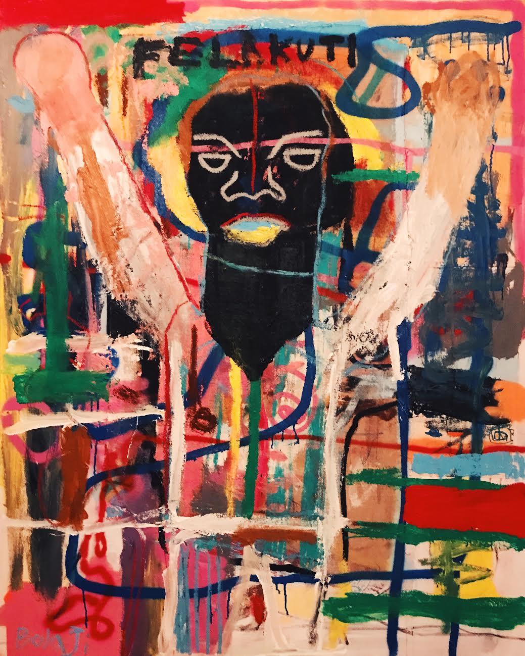 """Black President - A Portrait Of Fela Kuti"" by Adébayo Bolaji, 2018"